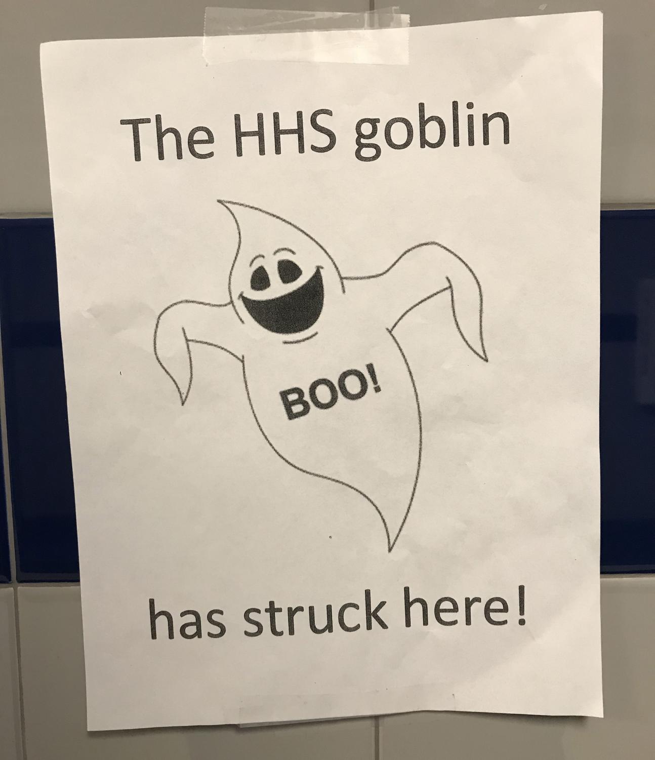HHS Goblin flyer that teacher's use to give each other gifts.