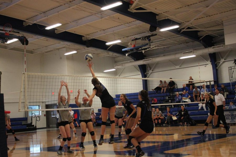 Laura Winkler jumps and hits the ball to Walton Verona's side on September 6th.