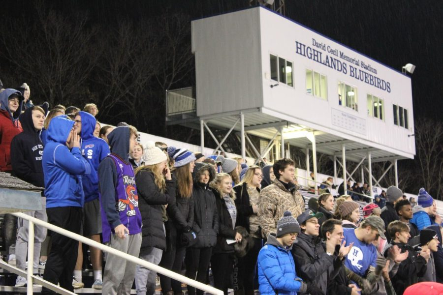 The Ozone wearing camouflage to support the girls.
