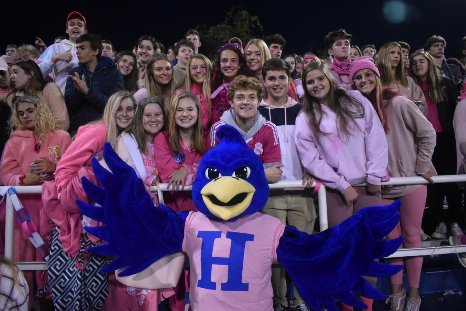 Senior ozone leaders pose with the Highlands Bluebird.
