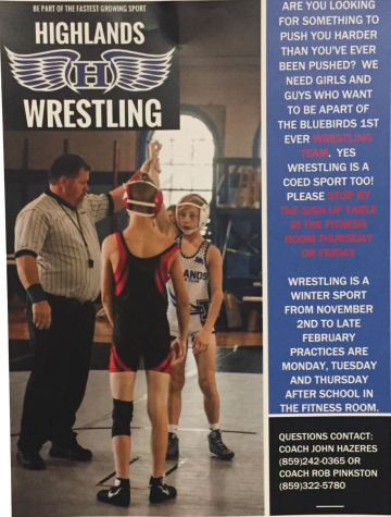 A wrestling flyer that can be found throughout the halls of Highlands.