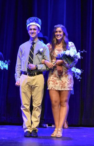 Seniors Peter Laskey and Kayla Bolling, who were voted Homecoming King and Queen.
