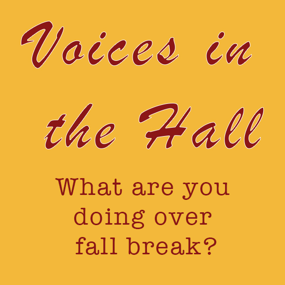 Voices in the Hall: What are you doing over fall break?