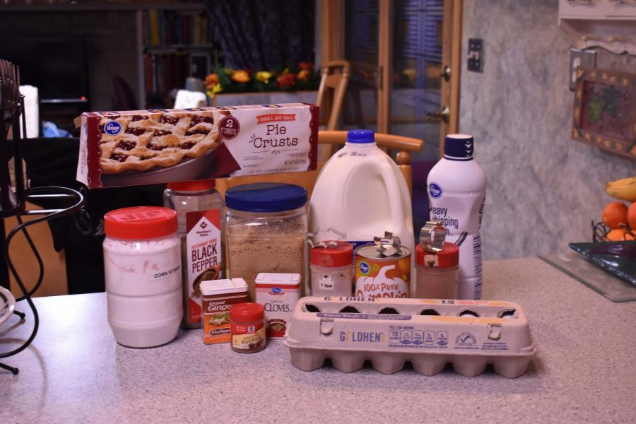 Once again, Haley meticulously laid out all of these wonderful ingredients for this elegant shot.