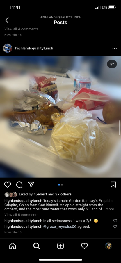 Satire account rates Highlands lunches, cafeteria staff works diligently despite COVID-19