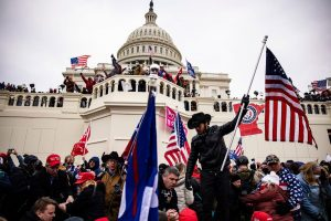 The United States Capitol under siege yesterday, with crowds of far-right extremists protesting President Donald Trump's loss in the 2020 election.