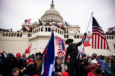 The United States Capitol under siege yesterday, with crowds of far-right extremists protesting President Donald Trump