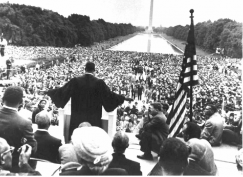 Martin Luther King Jr. addresses the crowd 1957 Prayer Pilgrimage for Freedom in Washington, D.C.