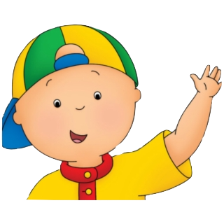 Caillou is a character in a self-titled show on PBS Kids who is fascinated by the world around him.