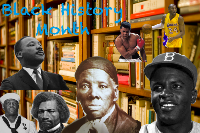 Featured above are important figures a part of the black community who have contributed greatly throughout history.