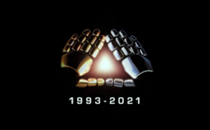 The hands of Daft Punk forming a glowing triangle, signaling the end of an era. Via Daft Punk on YouTube