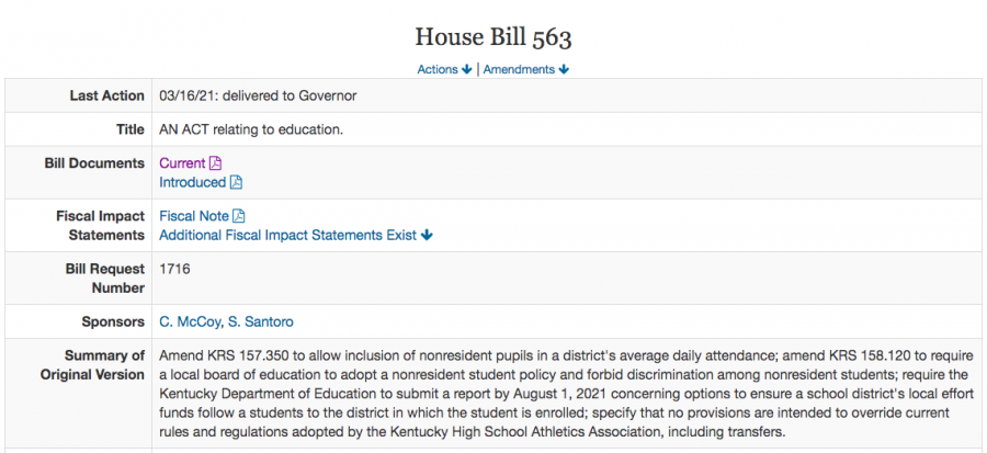 The body of House Bill 563, from the Legislative Research Commission database.