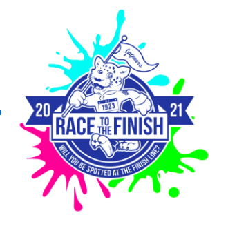 Official 2021 Johnson Color Run art — Will you be spotted at the finish line?