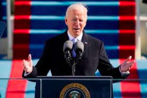 President Biden gives his inaugural address after being sworn in as the 46th President of the United States.