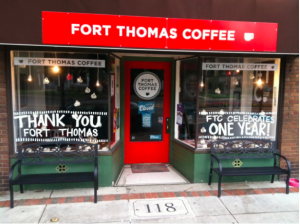 The current location for Fort Thomas Coffee.