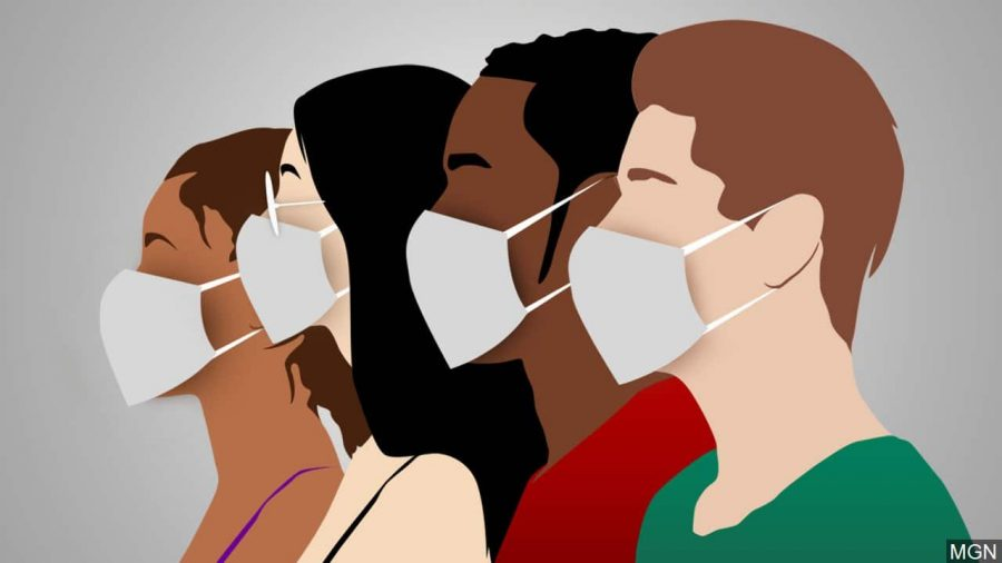 All students, staff, and visitors are required to wear a mask while in school, which was put into action by the Kentucky Board of Education.