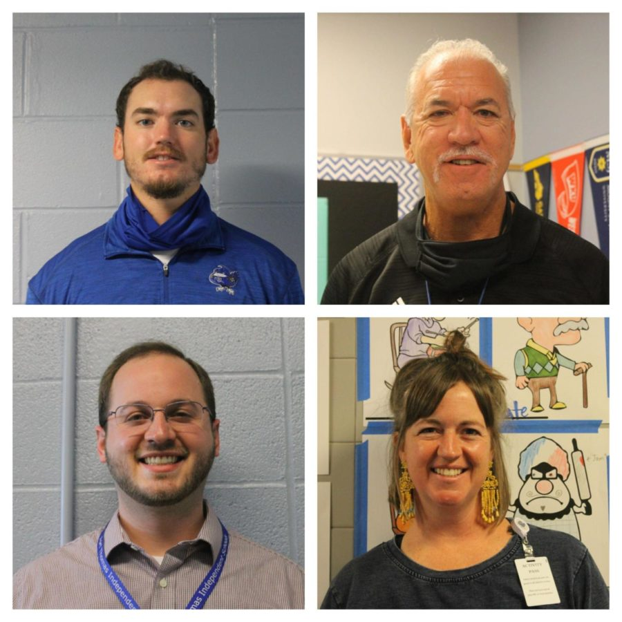 New Highlands High School teachers smile for the camera.