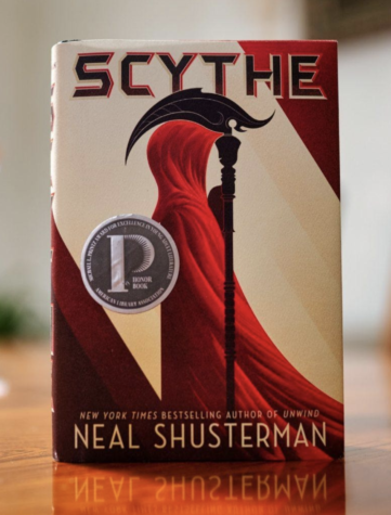 Dystopian and fantasy novel Scythe, which is written by Neal Shusterman.