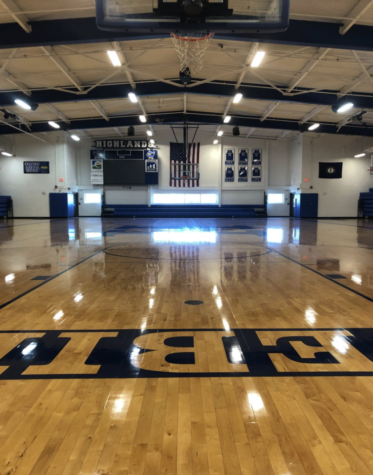 Photo caption: The Highlands High School gymnasium, home to the 2021 state champions.